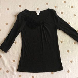 LOFT Tops - Black 3/4 sleeve LOFT shirt